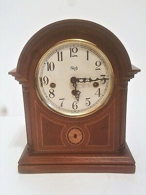 Sligh Franz Hermle Westminster Chime Mantle Clock W/ Key. Model 340-020A