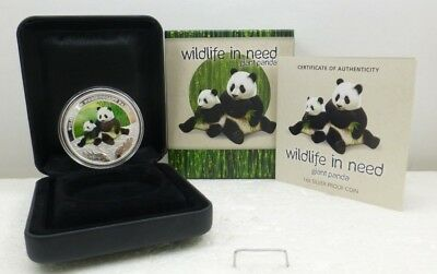 "2011 Australia 1 oz Silver Proof Giant Panda ""Wildlife In Need"" Coin"
