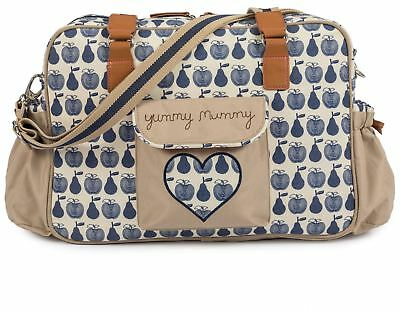 Pink Lining YUMMY MUMMY BLUE APPLES AND PEARS Storage Travel New Baby