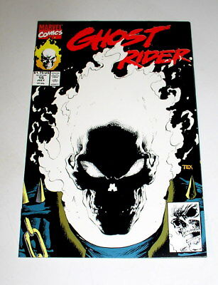 Ghost Rider #15   The Black Glow In The Dark Cover - 1St Print - 1991