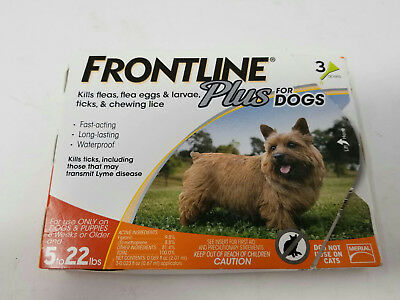 Merial Frontline Plus Flea & Tick Control for Small Dogs 5-22 lbs (3 Months)