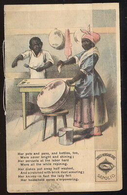Victorian Booklet Advertising Sapolio Soap-Cleaner, Black Americana Theme