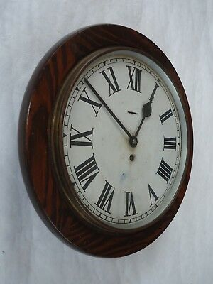Antique 12 Inch Station / School Wall Clock. Spares Or Repair