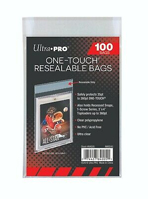 100 Ultra Pro ONE TOUCH RESEALABLE BAGS NEW magnetic screw card sleeve