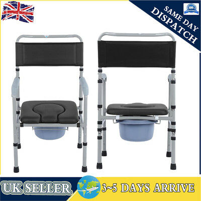 Height Adjustable Commode Chair Incontinence Toilet Mobility Disability