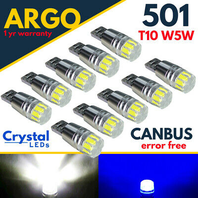 T10 501 Led Xenon Bulb White Side Light Car Canbus Error Free W5W Wedge Lamp 12V