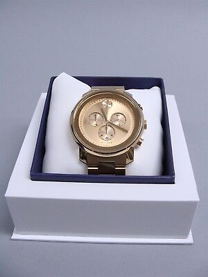 64f714d2f New Movado Bold Chronograph 3600278 44mm Men's Gold Tone Stainless Steel  Watch