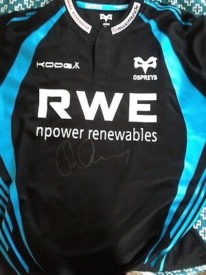Signed Shane Williams Ospreys Rugby Shirt