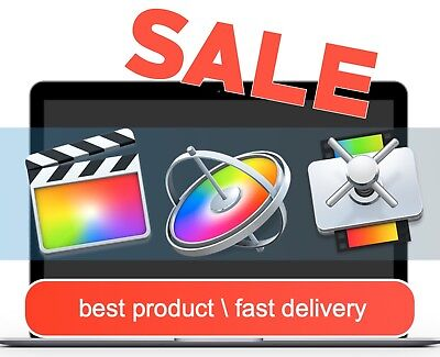 SALE Final Cut Pro X 10.4.4+Motion 5.4.2+Compressor4.4.3 Fast Delivery