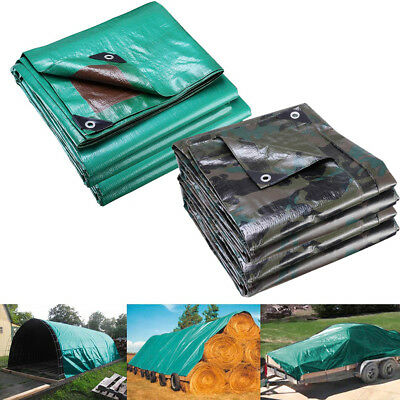 Heavy Duty Poly Tarp Waterproof Canopy Tent Reinforced Cover 7mil UV Block Thick