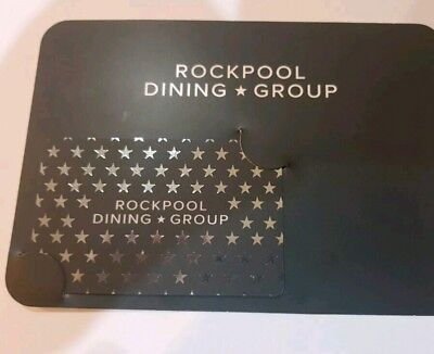 """GIFT CARD $400 Value """"Rockpool Dining Group"""" Long Expiry, Use on multiple locals"""