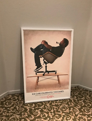 EAMES ICE CUBE Pacific Standard Time Limited Ed. Exhibition Poster Framed RARE!
