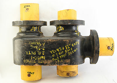 Vintage Large Wood Industrial Foundry Pattern Mold For Water Main Pipe #1