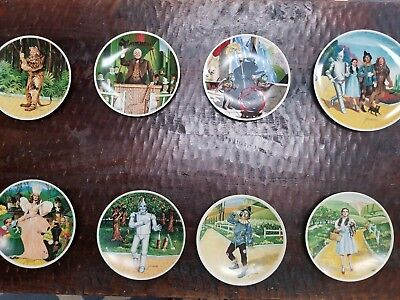 Vintage Wizard of Oz Total Set of 8 Knowles Collector's Plates Made in the USA