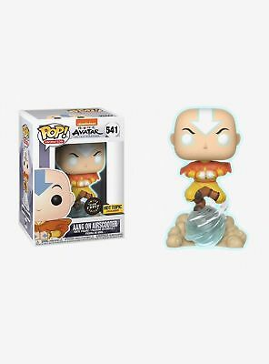 Funko Pop Glow Aang on Airscooter Avatar Last Airbender Chase Hot Topic