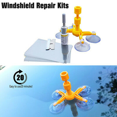 DIY Windscreen Windshield Repair Kits Window Glass Scratch Crack Restore Tools
