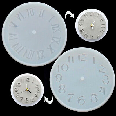 Cement Concrete Silicone Mold DIY Craft Clock Making Clay Plaster Mould Tool