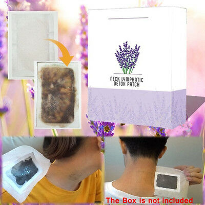Stylish Neck Lymphatic Detox Patch Anti-Swelling Herbal Lymph Pads Foot Patch