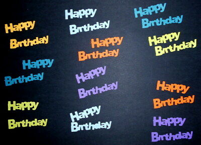 HAPPY BIRTHDAY Textured  Cardstock Die-cuts  Scrapbooking/Cardmaking