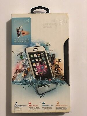 LifeProof NUUD iPhone 6 Plus Waterproof Hard Shell Case Acalanche White/Gray NEW