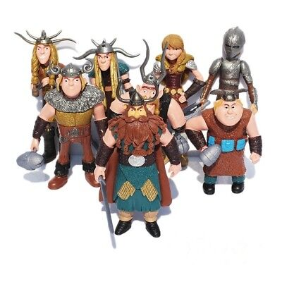 8pcs Anime How To Train Your Dragon  Action Figures Toy Doll Children Kids Gift