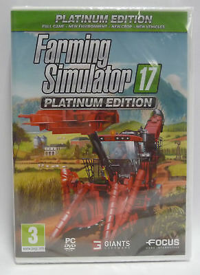 Farming Simulator 17  - Platinum Edition Pc New Sealed Pc Edition Videogame