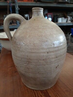 Antique Salt-glazed Stoneware Clay Bee Hive Flagon Jug, good original condition.