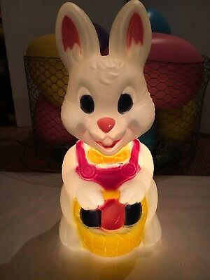 Blow Mold Easter Bunny Rabbit Decoration General Foam New
