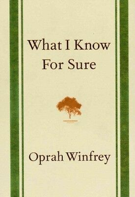 What I Know for Sure, Hardcover by Winfrey, Oprah, Like New Used, Free shippi...