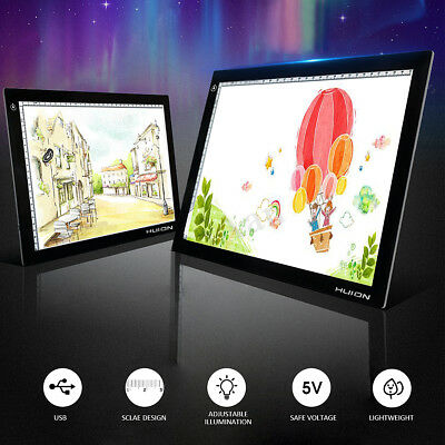 HUION A4 LED Drawing Tablet Light Box Tracing Board Copy Pad Artcraft USB Cable