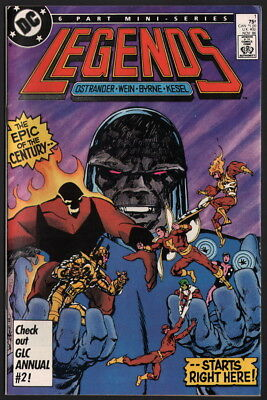 Legends #1 / John Byrne Art Captain Marvel Shazam Darkseid JLA Flash Firestorm