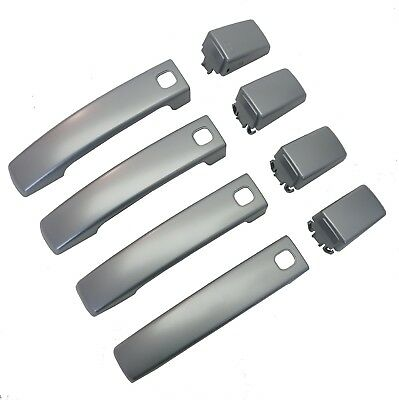 Titanium Silver Door Handle skins for Land Rover Discovery 4 2010 on clip covers