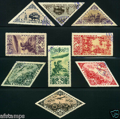 Tannu Tuva. Year 1936. Sc. C10-8. Used. SCV $26.25.  2nd airmail set.