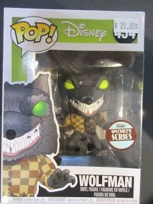 Funko Pop Nightmare Before Christmas Wolfman Specialty Series NEW 454
