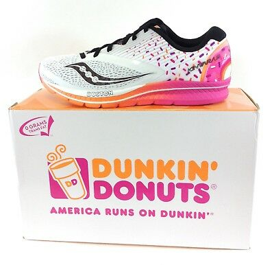 wholesale dealer d1d04 55a9a NEW Mens SAUCONY Kinvara 9 Dunkin  Donuts S20418-18 Boston Sneakers Shoes