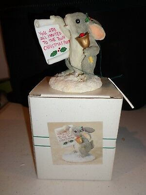 Charming Tails Fitz & Floyd TOWN CRIER Mouse Figurine