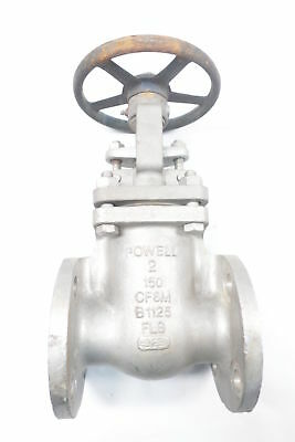 Powell 2491 Manual 150 Stainless Flanged 2in Wedge Gate Valve