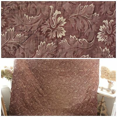 Quilt quilted bed cover Antique French purple c 1820 textile bedspread ruffled