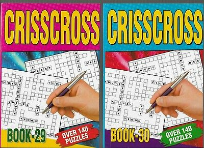2 Crisscross Books 140 Puzzles In Each A5 Size  Books 29 & 30 Free P/p