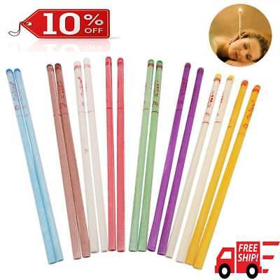 50X Cylinder Ear Cone Candles With Natural Bee Wax Paraffin For Ear Therapy