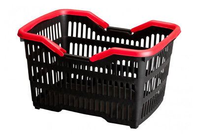 1000units of 15 Litre Plastic Shopping Baskets with Folding handles