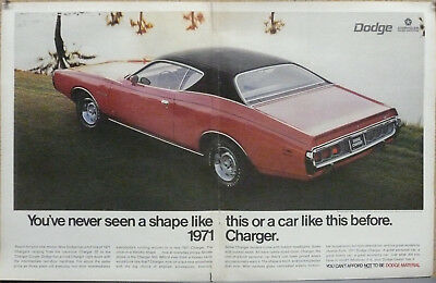 1971 Dodge Charger Poster Size Print Ad