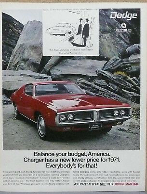 1971 Dodge Charger Ad (Red) Print Ad