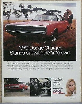 1970 Dodge Charger Ad (Red) Print Ad