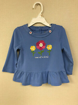 Gymboree 2T 5T Blue Long Sleeve Top Tee Toddler Girl Clothes