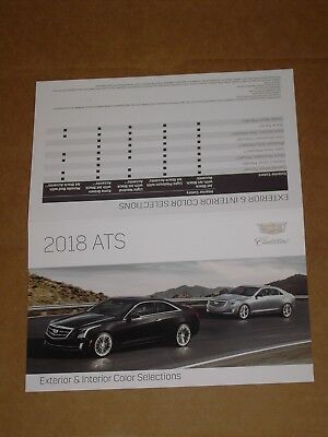 2018 Cadillac Ats Exterior Interior Color Chip Chart Brochure Mint!