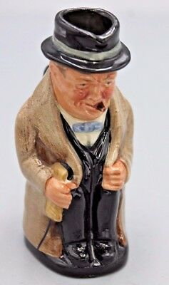 "Royal Doulton Winston Churchill 4"" Toby Mug Creamer Pitcher Character Jug GOOD!!"
