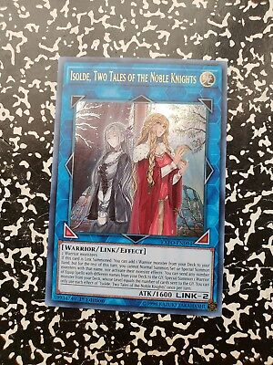 Yugioh Isolde, Two Tales of the Noble Knights EXFO-EN094 Ultra Rare 1st Ed NM