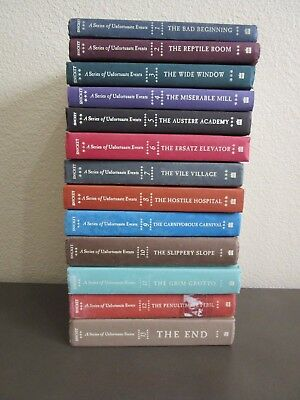 Lemony Snicket A SERIES OF UNFORTUNATE EVENTS LOT 1-13 Complete Set Hardcover