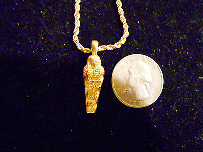 bling gold plated egyptian KING GOD pharaoh PYRIMID mummy Charm Necklace JEWELRY